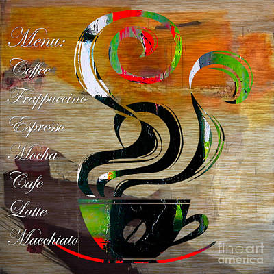 Mixed Media - Coffee House by Marvin Blaine