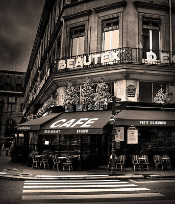 Photograph - Coffee Shop In Paris by Radoslav Nedelchev