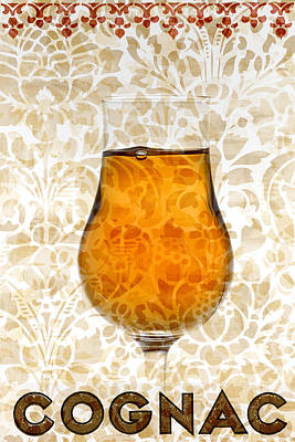 Florals Mixed Media - Cognac by Frank Tschakert