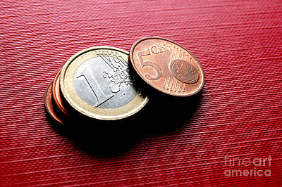Coins Photograph - Coins Euro by Michal Bednarek