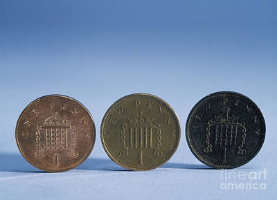 Coins Of Various Ages Art Print