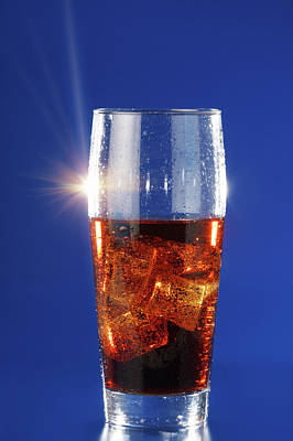 Food And Drink Photograph - Cola Drink In A Glass by Wladimir Bulgar