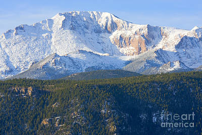 Steven Krull Royalty-Free and Rights-Managed Images - Cold Peak by Steven Krull