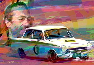 Painting - Colin Chapman Lotus Cortina by David Lloyd Glover