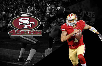 Colin Kaepernick 49ers Art Print by Joe Hamilton