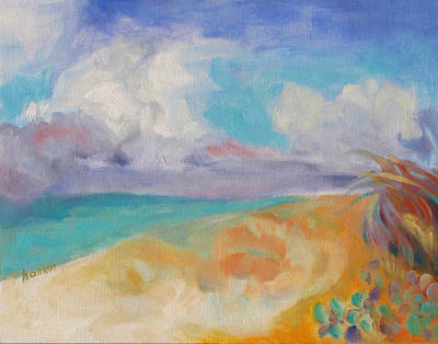 Painting - Collapsed Sand Castle by Susan Hanlon