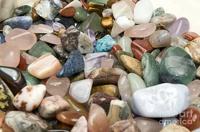 Semiprecious Photograph - Collection Of Semiprecious Gemstones by PhotoStock-Israel