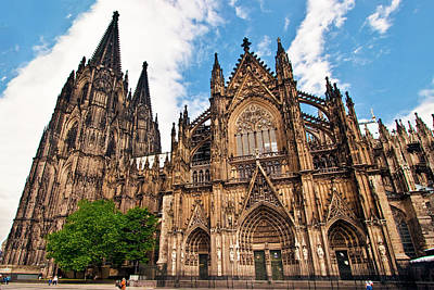 Portico Wall Art - Photograph - Cologne Cathedral, Cologne, Germany by Miva Stock