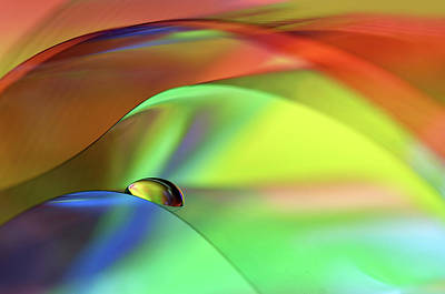 Water Drops Photograph - Color Cascade by Heidi Westum