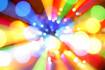 Multicolored Digital Art - Color Explosion by Les Cunliffe