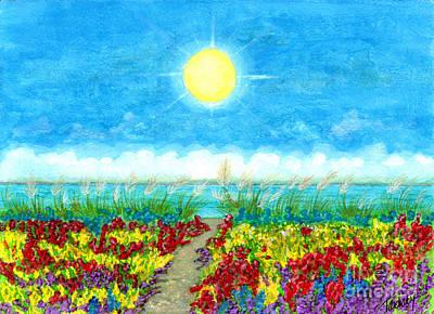 Color Path Art Print by Tina Zachary