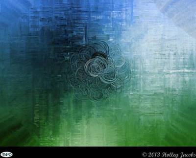 Digital Art - Color Sensation Teal by Holley Jacobs