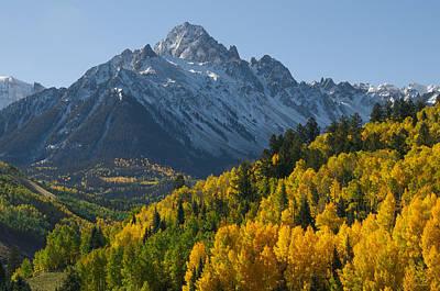 Landscape With Creek Photograph - Colorado 14er Mt. Sneffels by Aaron Spong