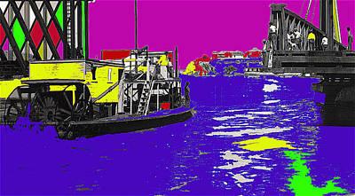 Gaugin Rights Managed Images - Colorado River Drawbridge Stern Wheel Paddle Boat Yuma Territorial Prison Yuma Arizona C.1885 Royalty-Free Image by David Lee Guss