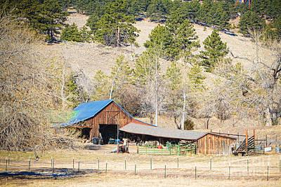 Colorado Rocky Mountain Barn Print by James BO  Insogna