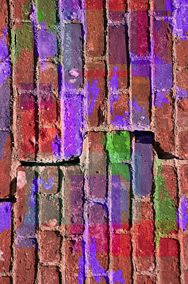 Digital Art - Colored Brick And Mortar 2 by Lynda Lehmann