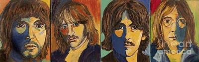 Art Print featuring the painting Colorful Beatles by Jeanne Forsythe