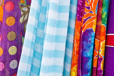 Colorful Cloths Art Print by Tom Gowanlock