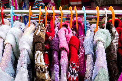 Coat Rack Photograph - Colorful Coats by Tom Gowanlock