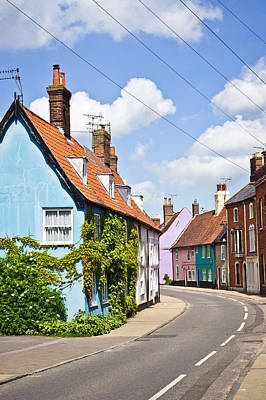 Old Neighbourhood Photograph - Colorful Cottages by Tom Gowanlock