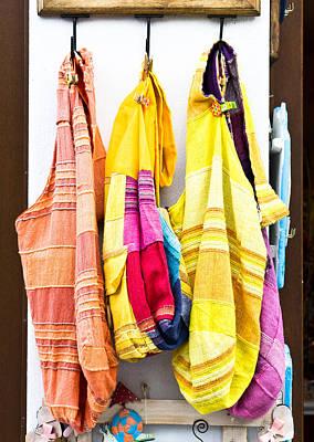 Colorful Cotton Bags Art Print by Tom Gowanlock