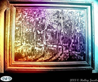 Digital Art - Colorful Dancin' Trees by Holley Jacobs