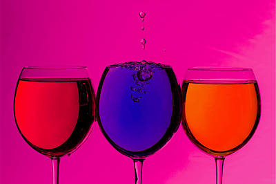 Photograph - Colorful Drinks by Peter Lakomy