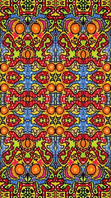 Colorful Folklore Pattern Art Print