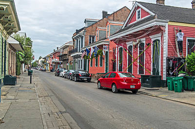 Photograph - Colorful Homes Near Bourbon Street In New Orleans by Willie Harper