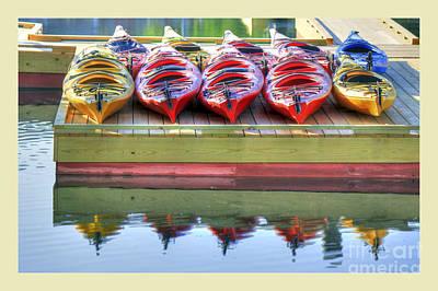 Photograph - Colorful Kayaks by Brenda Giasson