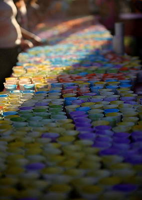 Photograph - Colorful Kid. Cups.  Indian Celebration Of Holi by John King