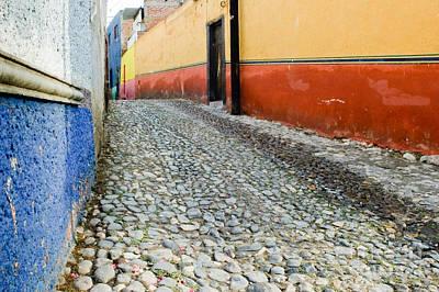 Bar San Miguel Photograph - Colorful Mexican Town by Oscar Gutierrez