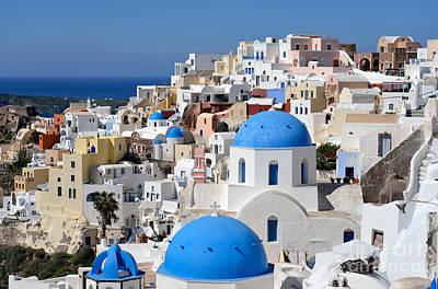 Photograph - Colorful Oia In Santorini Island by George Atsametakis