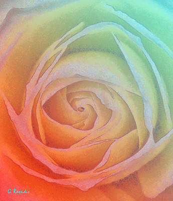 Blood Painting - Colorful Rose I by George Rossidis
