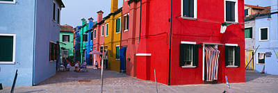Colorful Row Houses, Burano, Venice Art Print by Panoramic Images
