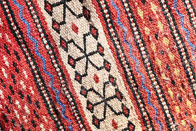 Arabians Photograph - Colorful Rug by Tom Gowanlock