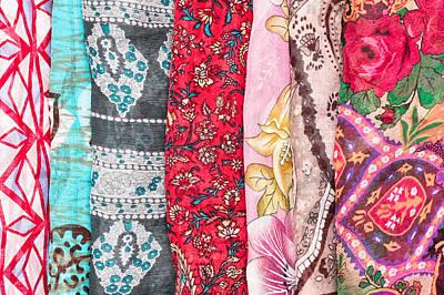 Cravat Photograph - Colorful Scarves by Tom Gowanlock
