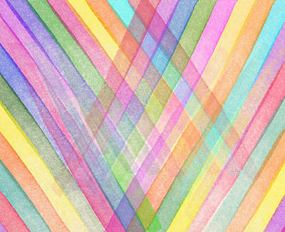 Colorful Abstract Digital Art - Colorful Stripes by Aged Pixel