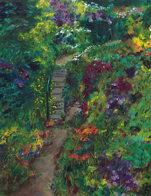 Cape Cod Painting - Colorful Walk To Sea Gull Beach by Viola Holmgren