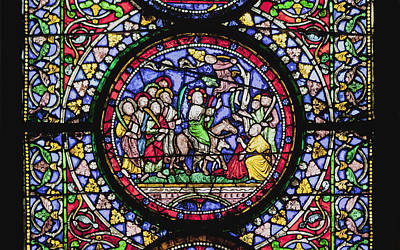 The Followers Photograph - Colourful Stained Glass Window In by Terence Waeland
