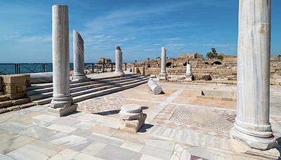 Building Feature Photograph - Columns In Archaeological Site by Panoramic Images