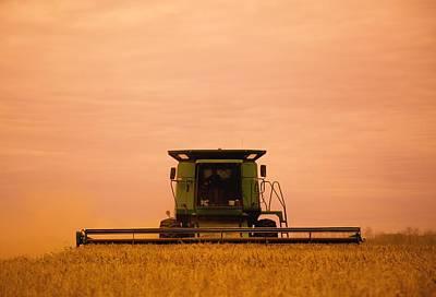 Combine Harvester Print by Darren Greenwood
