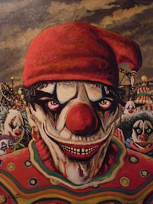 Evil Clown Painting - Come With Me by James Guentner