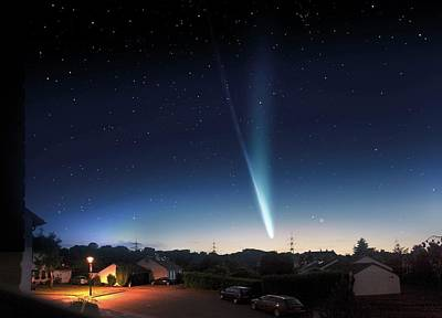 Composite Photograph - Comet Ison by Detlev Van Ravenswaay