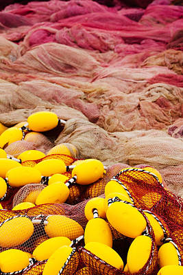 Commercial Fishing Nets With Floats Print by Panoramic Images