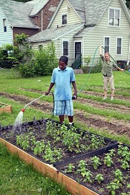 Community Garden Volunteers Art Print
