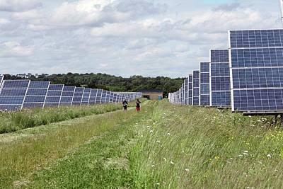 Community Owned Solar Farm Art Print by Martin Bond
