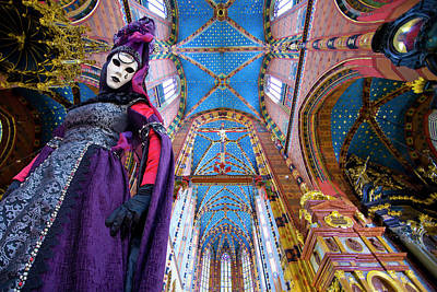 Composite Photograph - Composite Of Woman In Carnival Costume by Jaynes Gallery