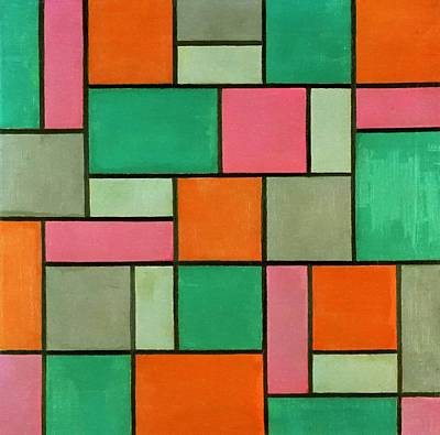 Painting - Composition Seventeen by Theo Van Doesburg