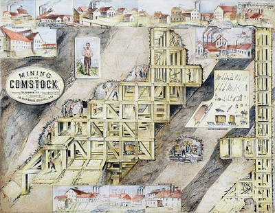 Lodes Painting - Comstock Lode, 1859-79 by Granger